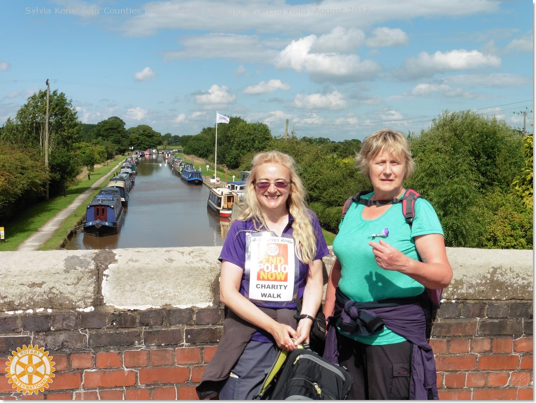Four Counties Ring Walking Challenge For End Polio - with Jan Constable Crewe & Nantwich Weaver RC
