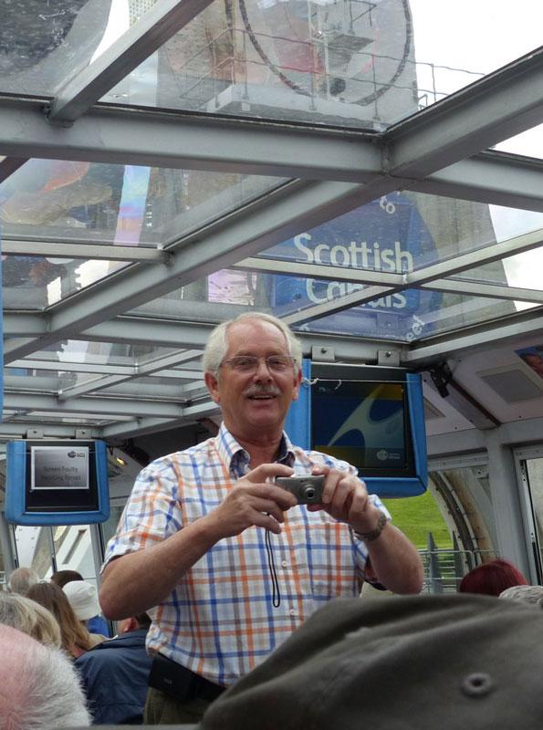 Falkirk Wheel Visit 29th June 2014 - Now I want you all to smile -