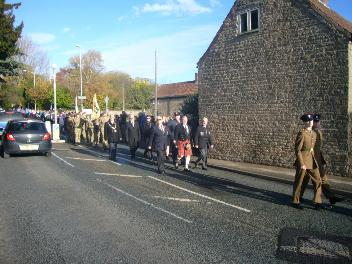 Remembrance Sunday parade - Warsop -
