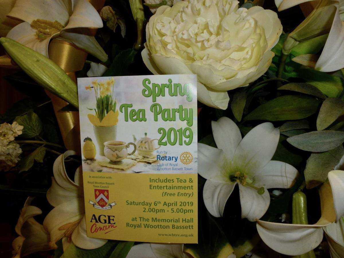 Annual Spring Tea for our Senior Citizens -