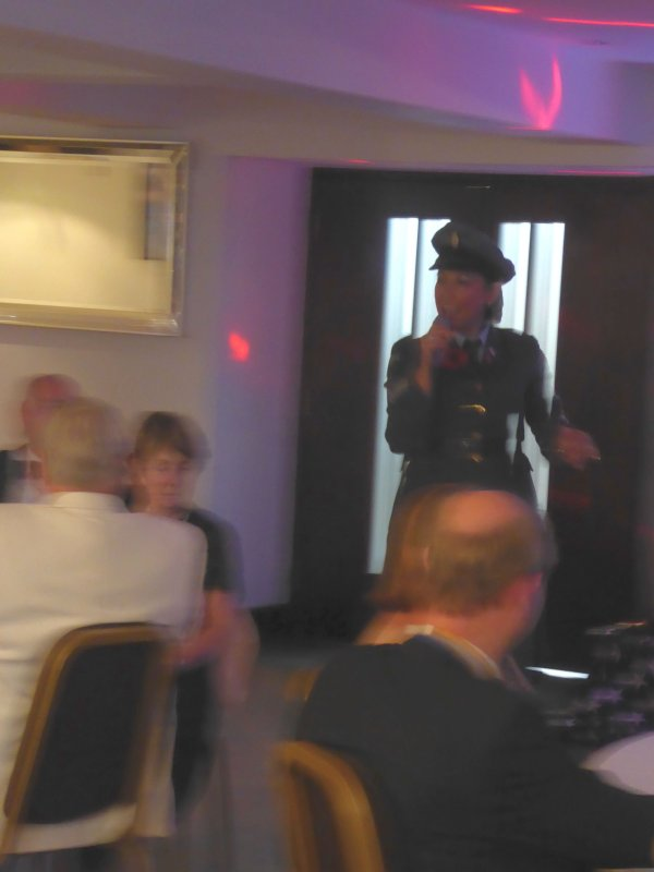 Charter Night and Handover 2018 - Diane Moore - our Entertainer in full flow