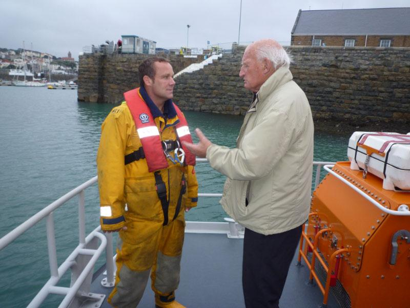 Lifeboat Event (14 September 2010) - Alec Forty in deep conversation