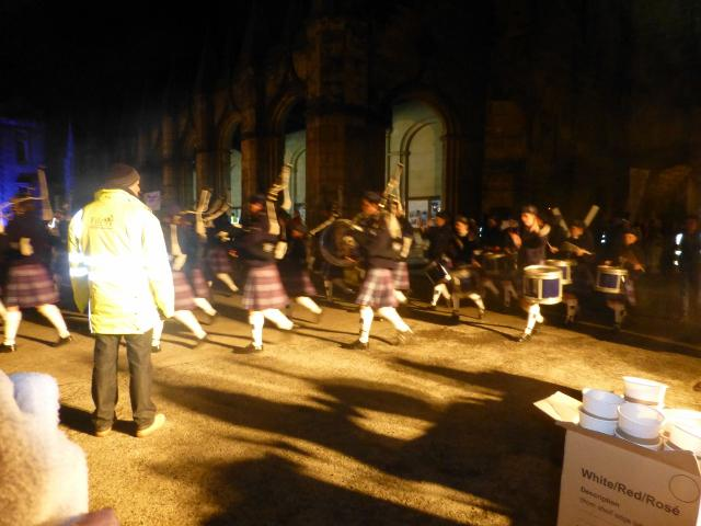 ... St Andrews Day Celebrations and Christmas Lights Switch On - The Pipe  Band lead the procession St Andrews Day Celebrations and Christmas Lights  Switch ... - St Andrews Day Celebrations And Christmas Lights Switch On - Rotary