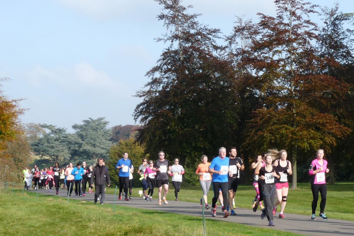 2016 Rotary Blenheim Run - Click for slideshow - Blenheim Palace in Sight