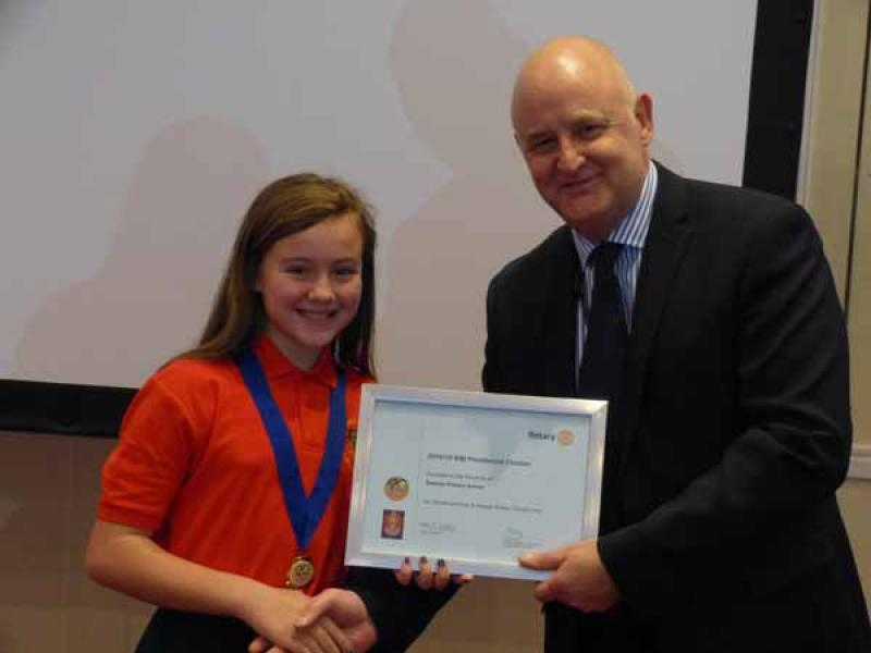 RotaKids Conference - 8th December  - Presidential Award to Swinton RotaKids