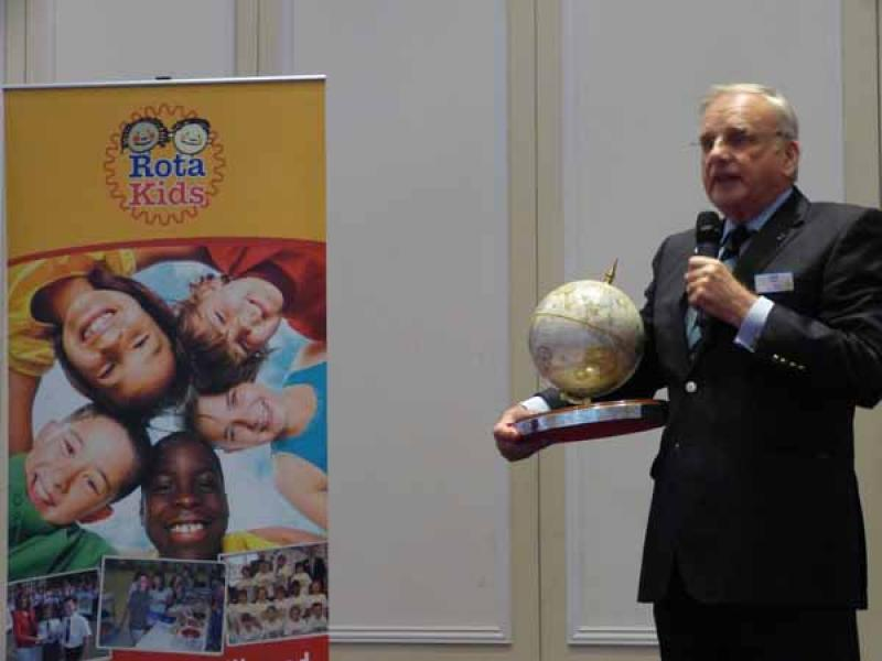 RotaKids Conference - 8th December  - Jack Steele announcing Planet Earth Trophy Competition