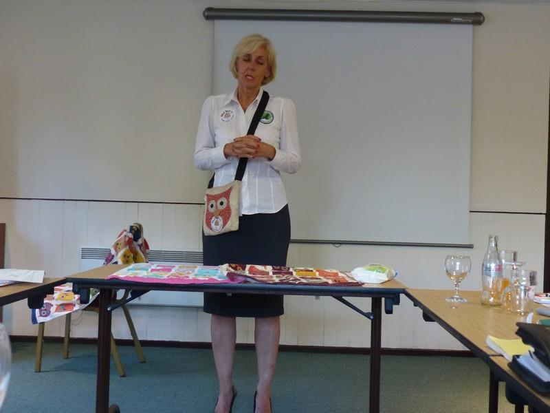 Club Meeting + Guest speaker Anita talking about Vocation - Rtn Anita Morris starting her talk before introducing the Birds