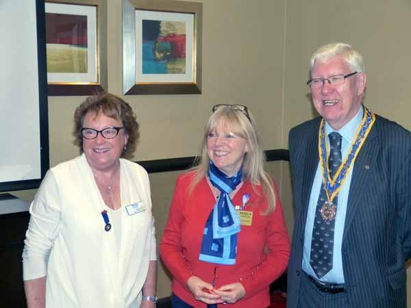 Handover Meeting - Morag, Assistant Governor Angela Samson and George