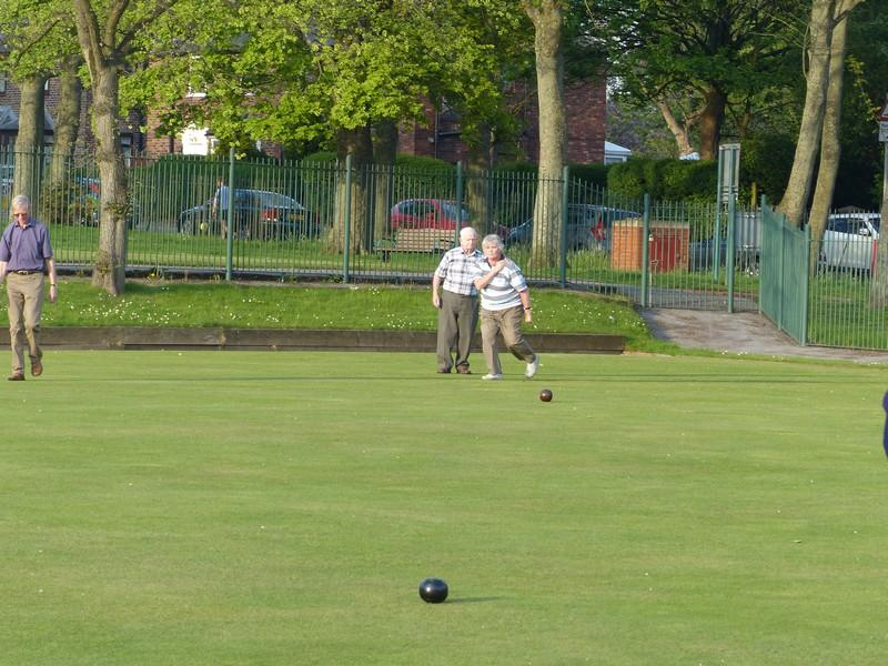 Fun Bowls evening with Widnes Rotary Club at Victoria Park Widnes - Jane