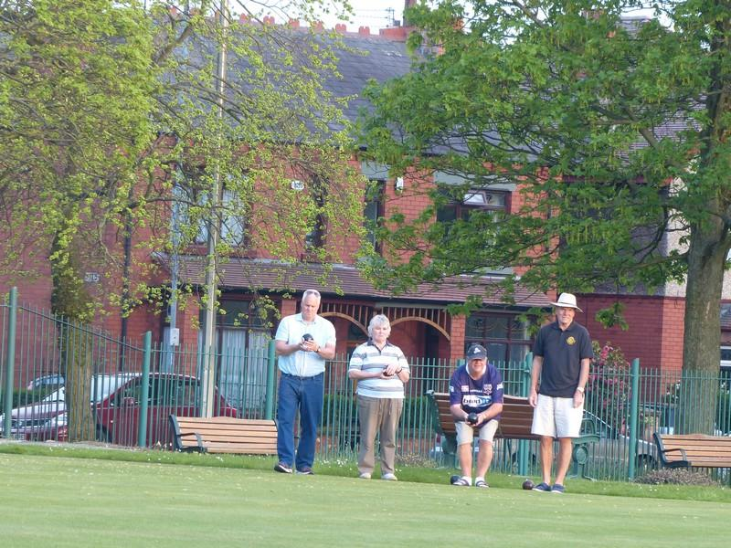 Fun Bowls evening with Widnes Rotary Club at Victoria Park Widnes - Rtn Derek and Jane