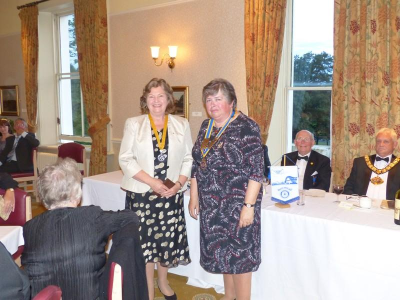 Presidents Handover - President Karen and incoming VP1 Ros Gregory