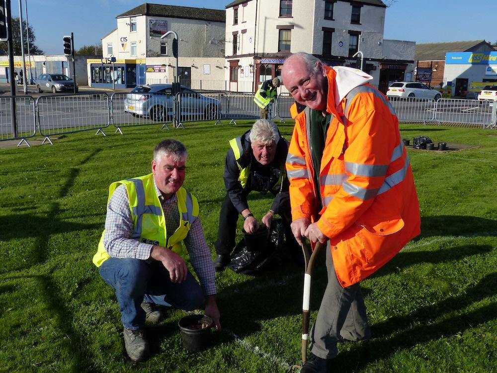 World Polio Day (Click the photo for members hard at work)  - Members Derek Harvey, Ian Mason and David Eatwell hard at work 11.11.2016