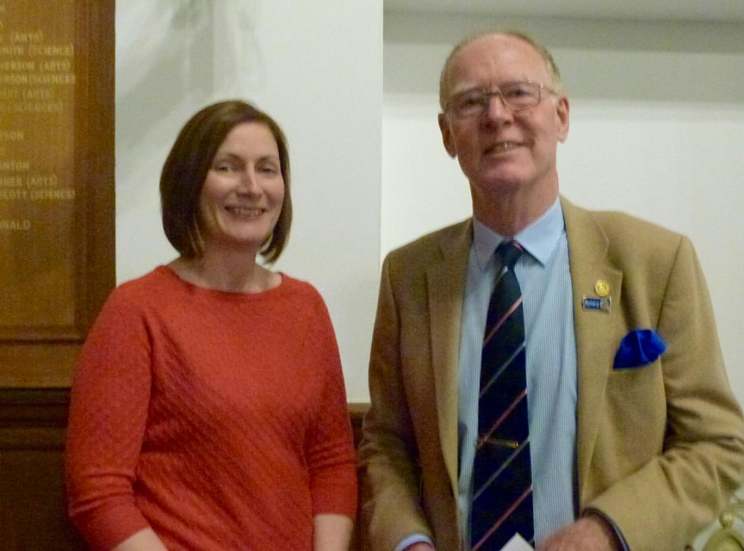 Young Musicians Competition 2019 - Chair of the Youth Committee, John with Alison, adjudicator.