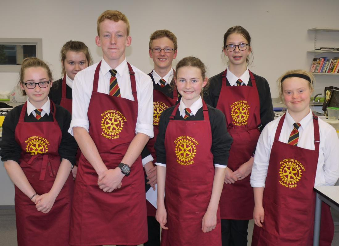 Alnwick Rotary Young Chef Competition - 2017/18 Alnwick Rotary Young Chef Competitors