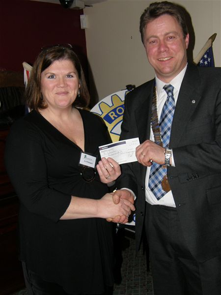 Cheque Presentation Night - February 2010 -
