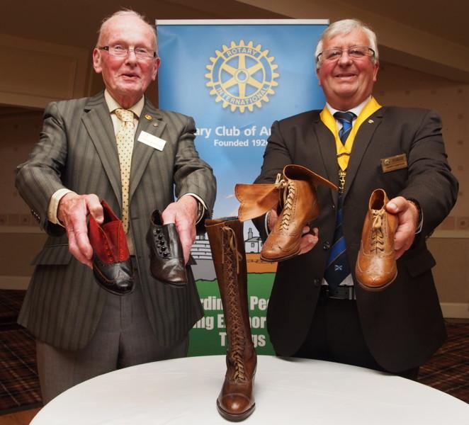 Club Photo Gallery July 2015 to June 2016 - Club Member Robin Fairweather was a guest speaker in July 2015. He spoke about his family's shoe business.