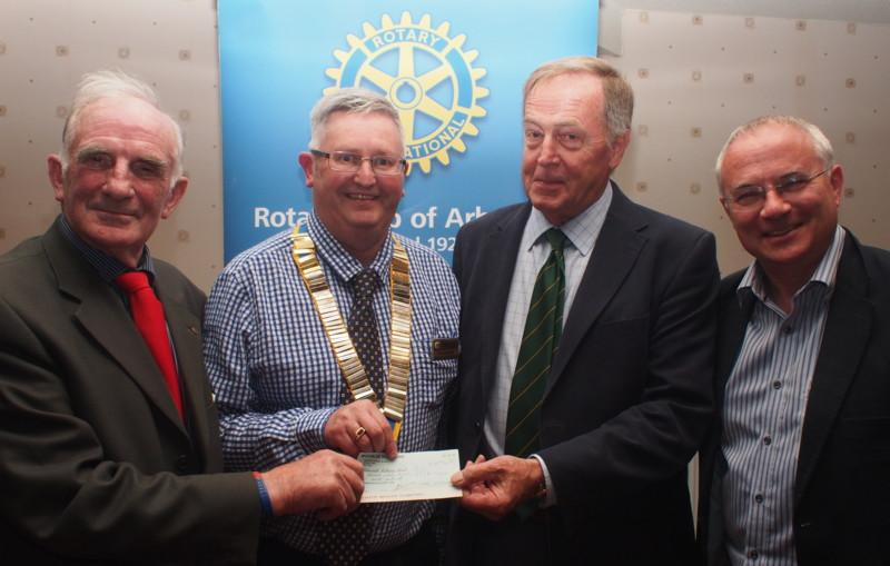Club Photo Gallery July 2015 to June 2016 - In August 2015, Arbroath Rotary Club received a cheque for £1770 as a donation towards the Club's International Humanitarian efforts.