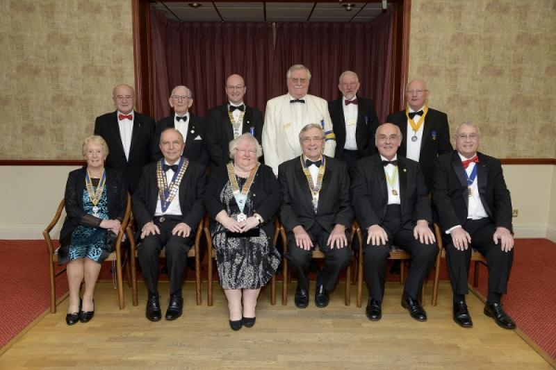 Charter Evening - President, Officers, and guests