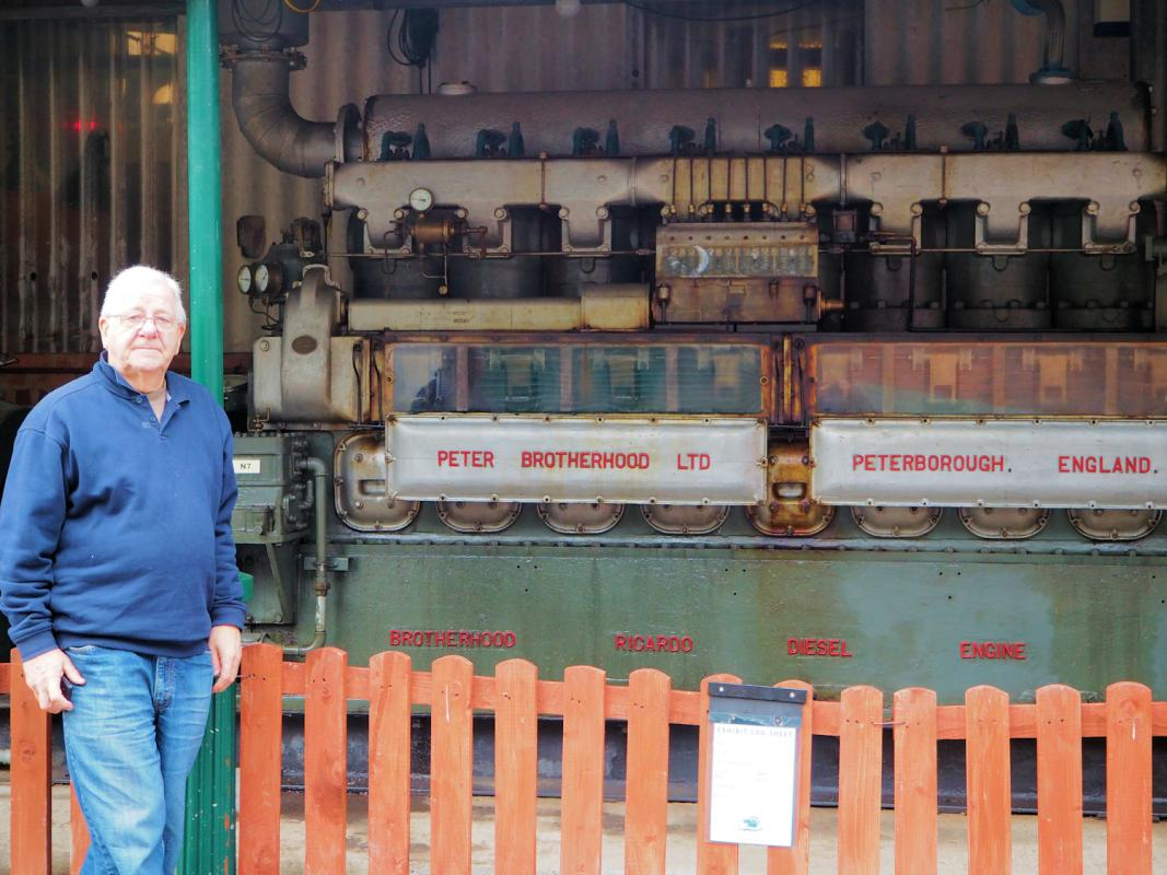 Visit to Anson Engine Museum - John's father was chief security officer at the plant that built this machine