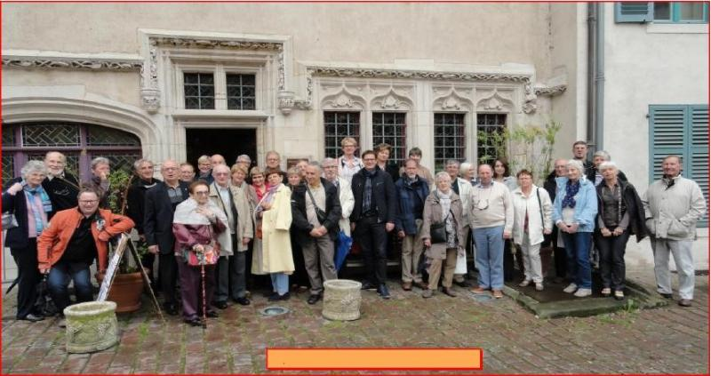Pont-à -Mousson Rotary Club Twinning and Exchange Visits - Members of the Pont-a-Mousson and Filey Clubs visit a mediaeval house in Vic-sur-Selle, Lorraine