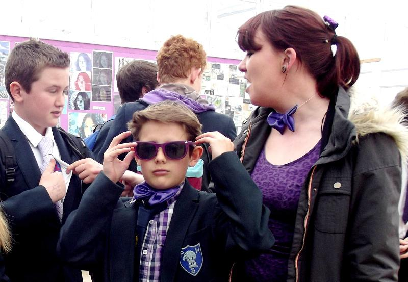 Park House School Turns Purple -