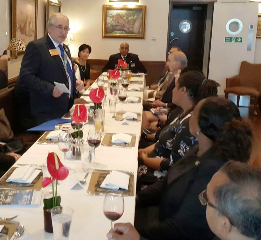 District Governor's visit on 19th September 2018 - Rotarians listening intently to the DG