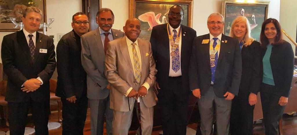 District Governor's visit on 19th September 2018 - Rotarians and Guests with the DG