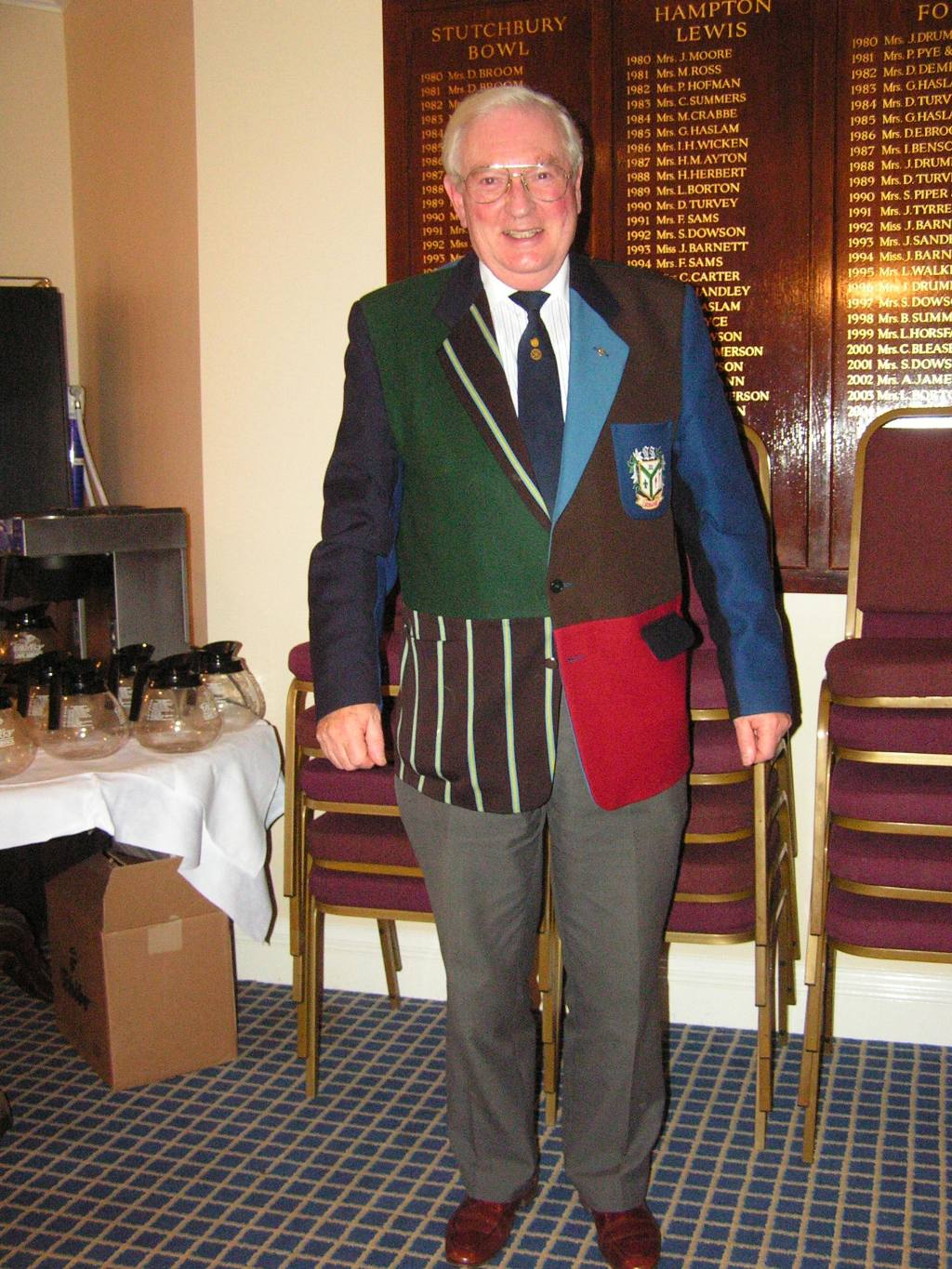 Club Members - PP Len Smith (who has a strange taste in tailoring!) is a Past President of RIBI.