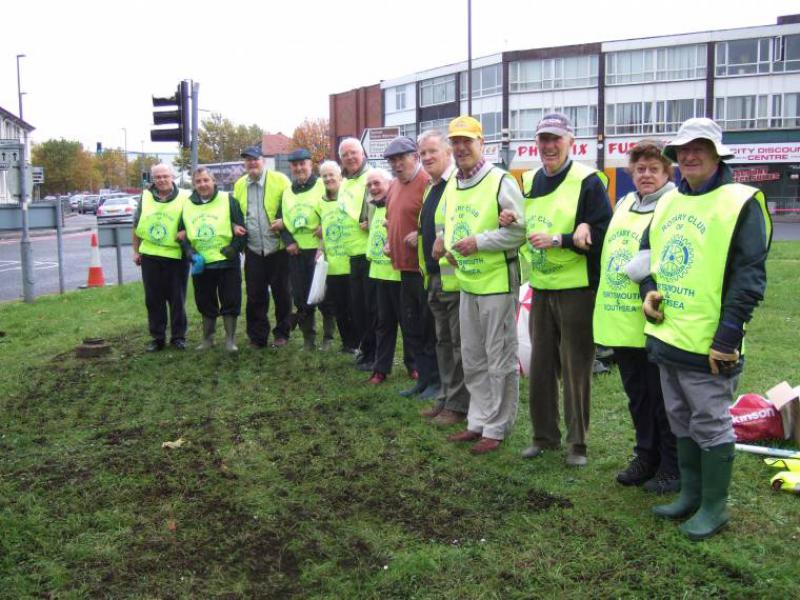 COMMUNITY & YOUTH SERVICES - Planting purple crocus bulbs to mark polio eradication campaign.