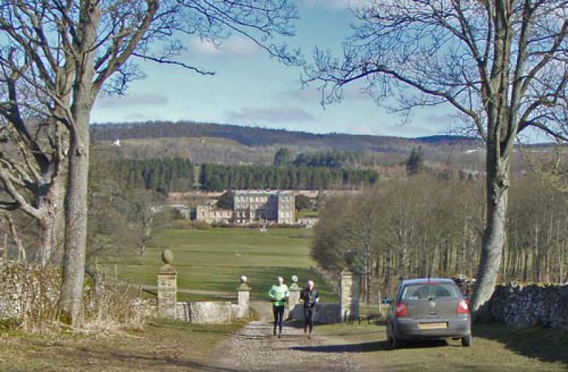 Wensleydale Wander 2013 Report - Lord's Bridge with Bolton Hall in background