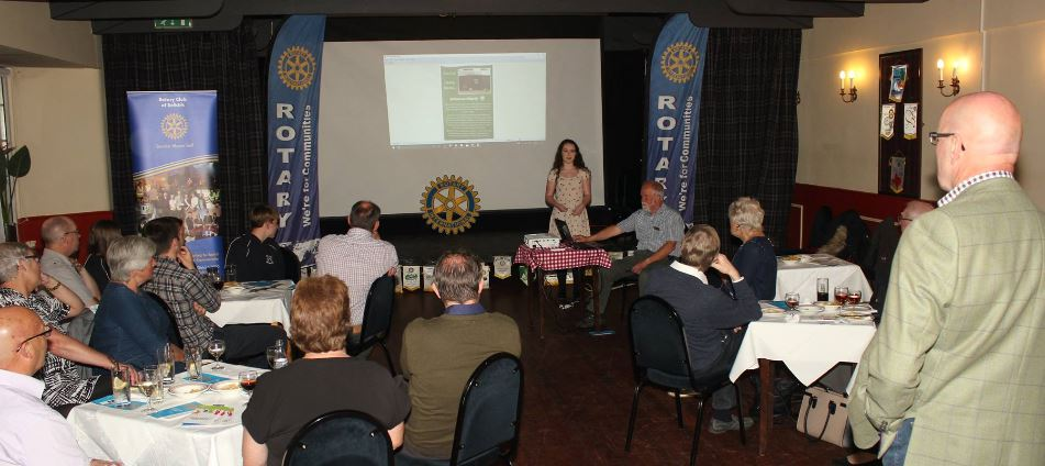 Presentation and Club Awareness Cheese and Wine Evening - Imogen Hoppe, talked about the recent Vine Trust trip to Tanzania.