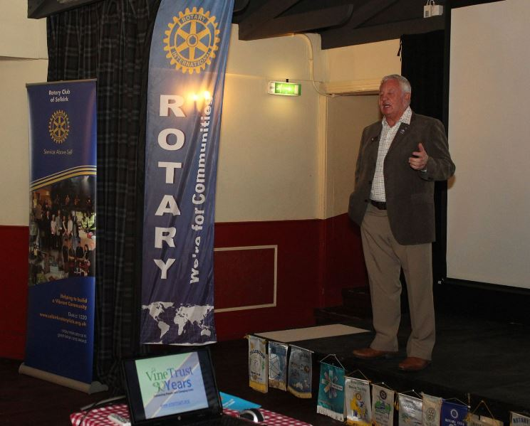 Presentation and Club Awareness Cheese and Wine Evening - Paul gave a very warm welcome to our 21 guests who heard all about a few of the projects that the club are involved in both locally and internationally