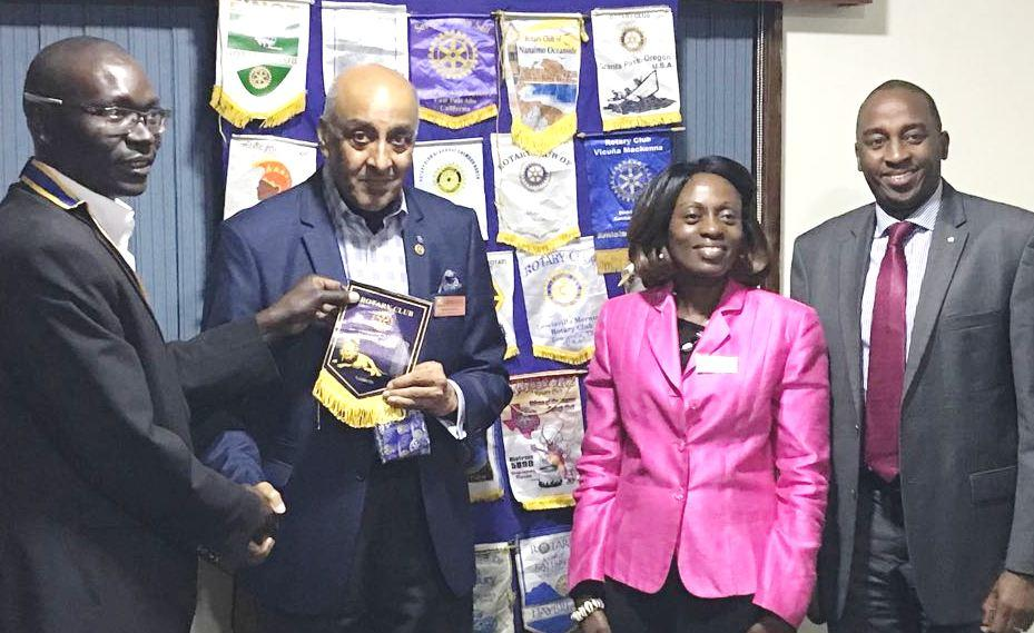 Visits to Other Rotary Clubs - PP Girish Raval and IPP Dr Josephine Ojiambo met with the President and members of the Rotary Club of Westlands in Nairobi, Kenya.