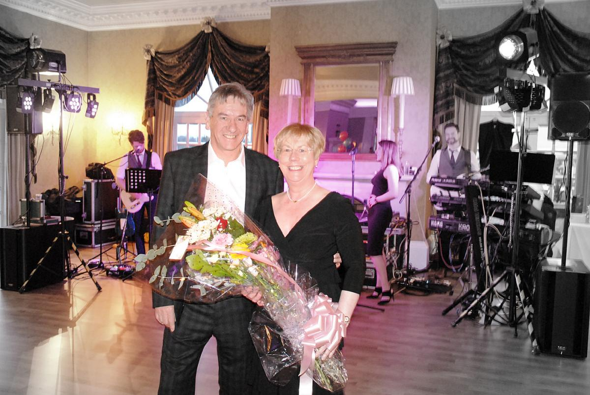 Grand Charity Spring Dance - President Dave Riddell and Founder and Chair of Circle of Comfort Roseann Haig