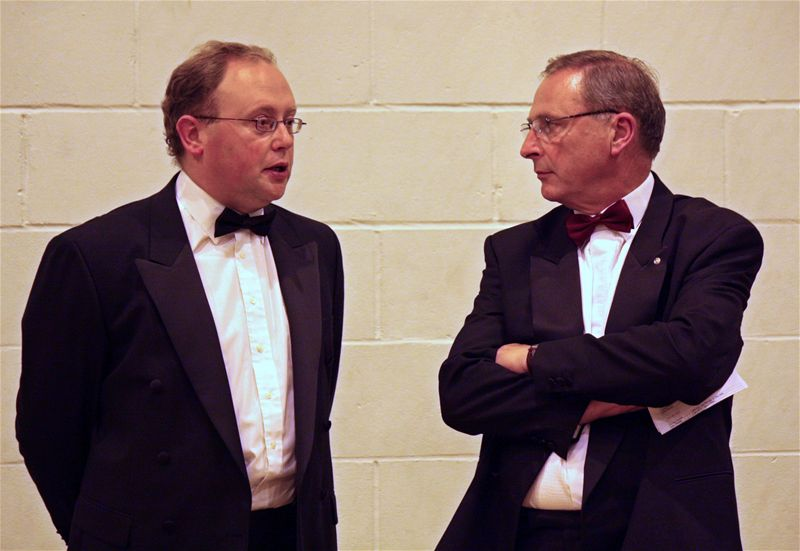 PROMS Concert 2009 - elegantly presented Rotarians Paul and Nick