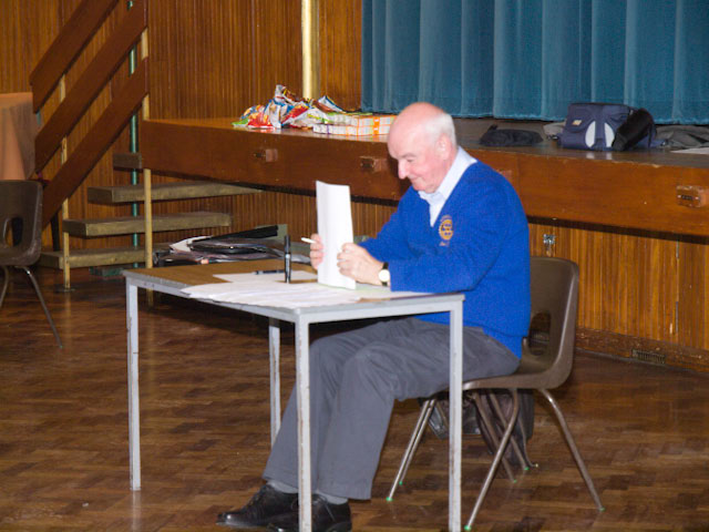 Primary School Quiz - SVP Iain Gow tally's the final scores