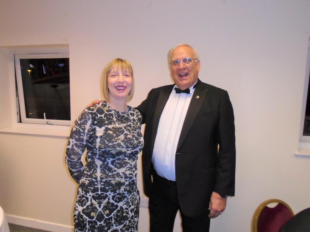 Nantwich Rotary 85th Charter Night - Pam Ford with Ian Thompson