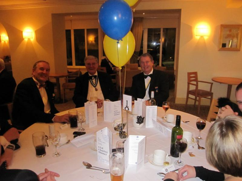 BLACKPOOL SOUTH ROTARY CLUB 2013  CHARTER DINNER.  - PP Ian Parr (South Ribble) with PDG Keith Gledhill and PP Barry Birch.