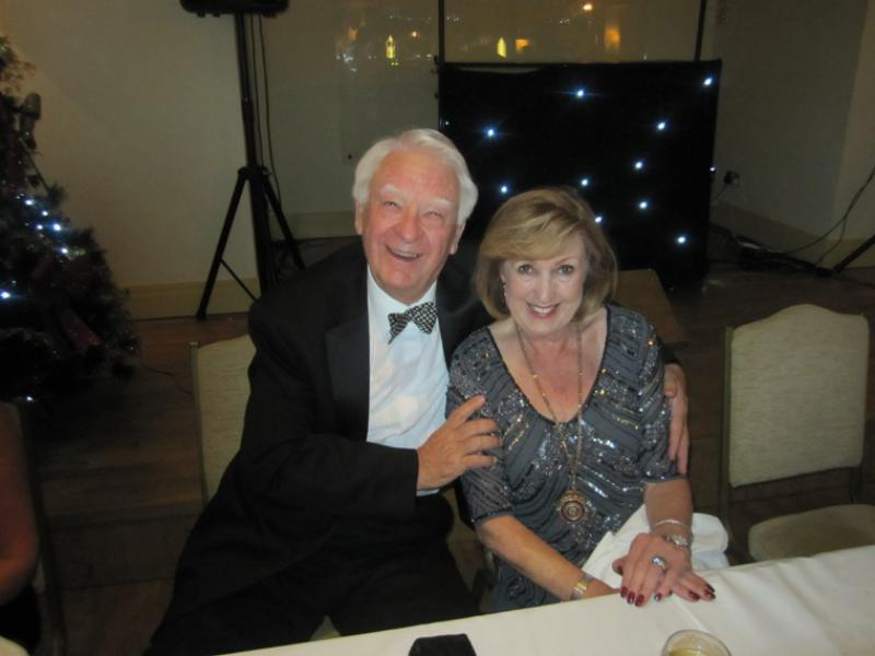 BLACKPOOL SOUTH ROTARY CLUB 2013  CHARTER DINNER.  - Past President and Club Secretary Eric Hind and President Anne Hind