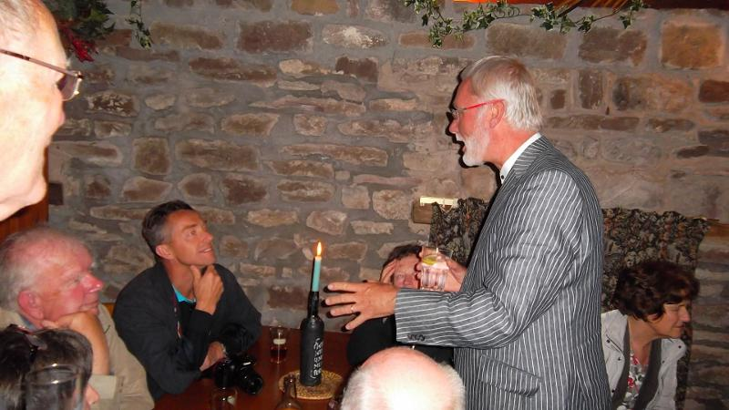 Odal Visitors - Past Rotarian Peter Baldus entertains