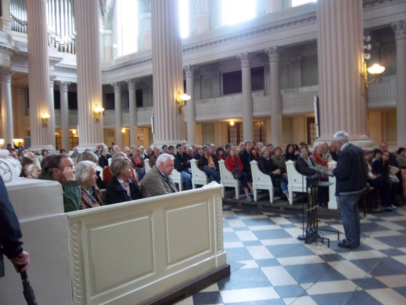 Contact Club Reunion in Leipzig - Pastor Fuhrer gave an impassioned speech describing how he instigated a