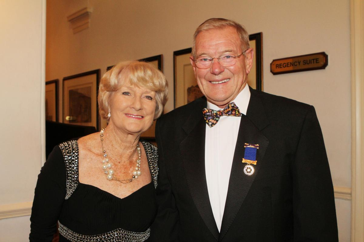Cheltenham North Charter Anniversary Dinner 26th April 2012 - Pat and John Cantrill