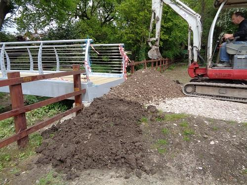 St Catherines Hospice Footbridge Construction - Path completion works south side