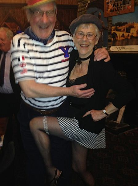 A French Evening - Patricia, winner of the ladies, fancy dress, with husband Paul