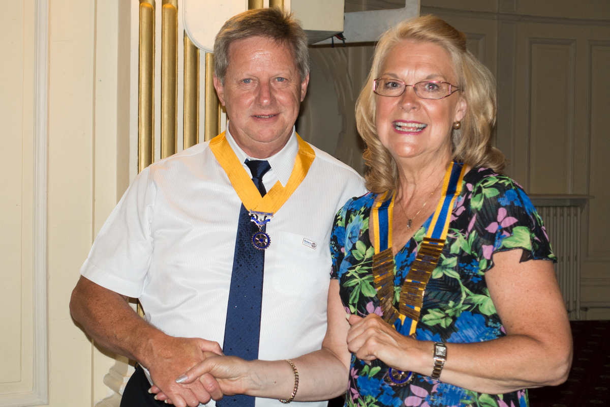 Handover Night - Patricia McAuliffe and Mike Green