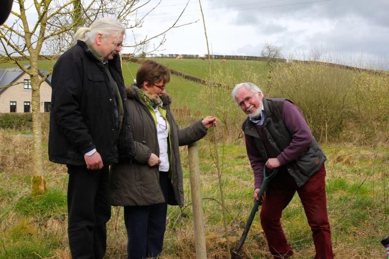 Peace Forest Ireland - Volunteers from the Patrick Kavanagh Resource Centre planting the Poplars.