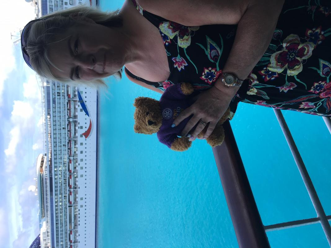 Rotary Polio Bear  - Pauline Cruising the Caribean