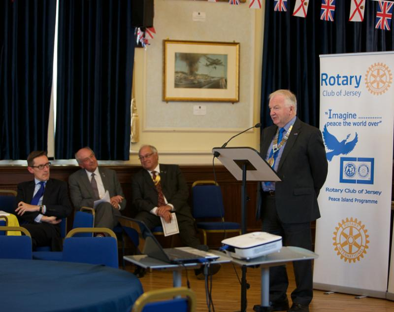 Jersey a Rotary Peace Community - District Governor Mike Jackson presents an update on Peace initiatives in the 77 other clubs around the Rotary Wessex and Channel Island region.