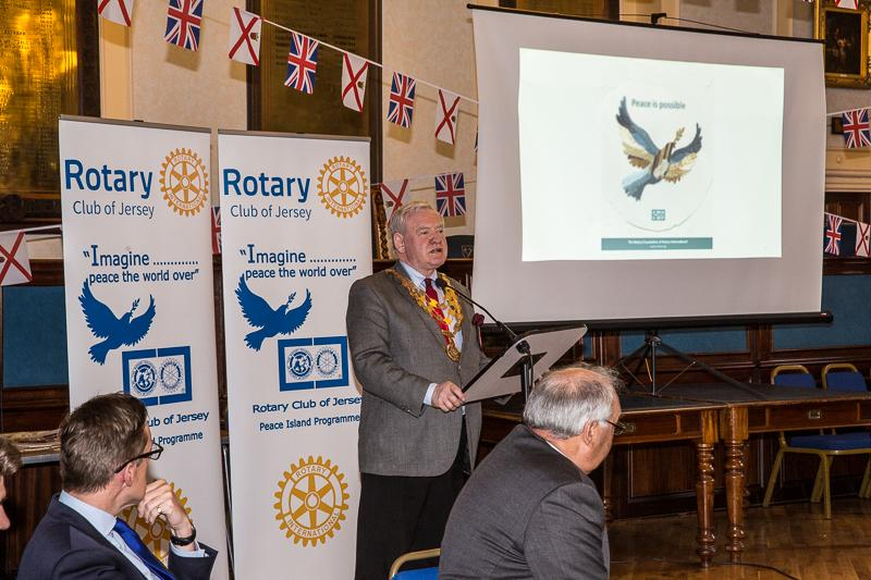 Jersey a Rotary Peace Community - A briefing from the President of Rotary International in Great Britain and Ireland, Rotarian Peter King.
