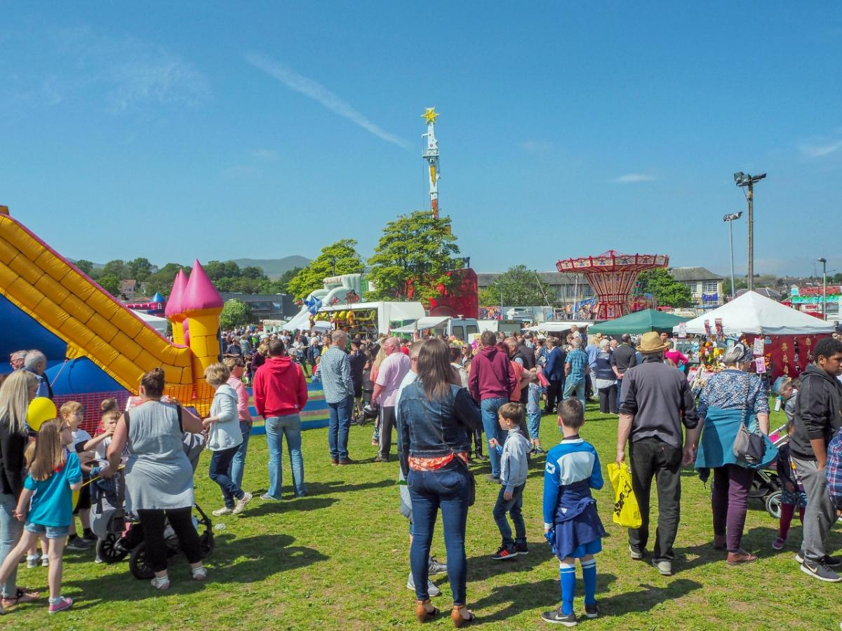 Penicuik in the Park 26th May 2018 - A view of the park and funfair.